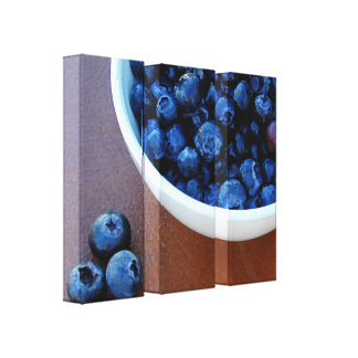 Toile Grande cuvette de bleu