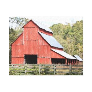Toile Grande grange rouge