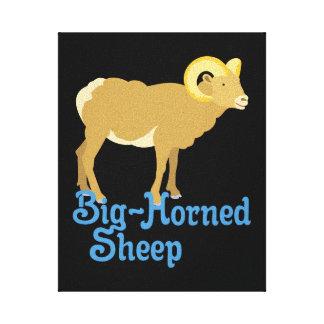 Toile Grands moutons à cornes