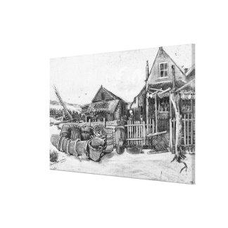 Toile Grange de séchage de poissons de Vincent van Gogh