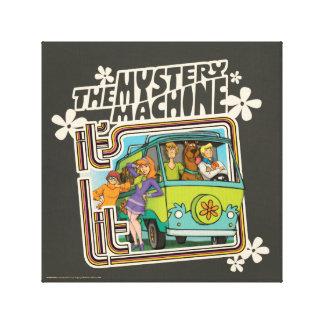 Toile Graphique de machine de mystère a Lit de