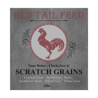 Toile Gris rouge de queue à céréales fourragères de sac