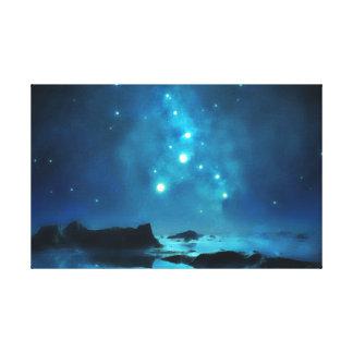 Toile Groupe d'étoile bleu de ciel nocturne