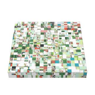 Toile Groupes chaotiques de vert
