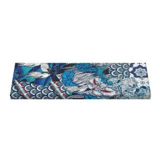 Toile Grue bleue volante florale