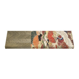Toile Grue d'or sur la tapisserie en soie