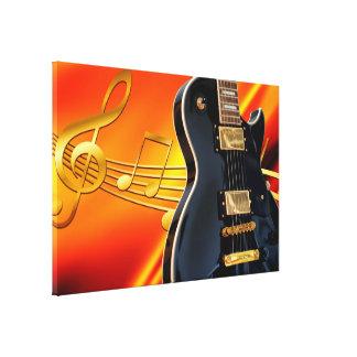 Toile Guitare électrique avec des notes de musique