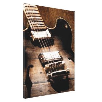 Toile Guitare occidentale en bois de musique country de