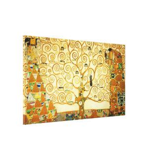Toile Gustav Klimt l'arbre de l'art vintage Nouveau de
