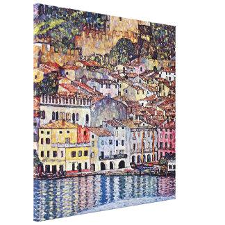 Toile Gustav Klimt - Malcesine au policier Italie de lac