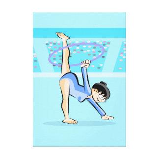 Toile Gymnastique artistique enfant danse avec le cercle