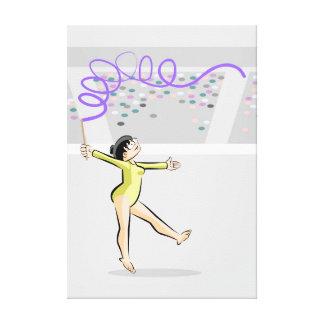 Toile Gymnastique artistique enfant en dansant avec le