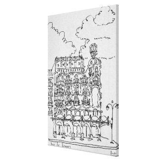 Toile Haussmann construisant la rue De Rennes, Paris de