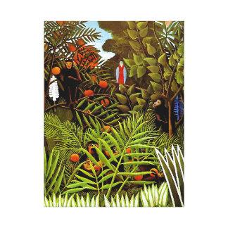 Toile Henri Rousseau - art exotique de jungle de paysage