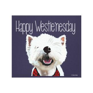 Toile heureuse de Westie'nesday