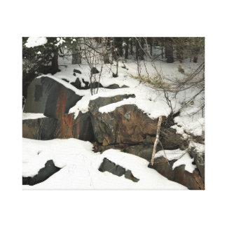 Toile Hiver en péninsule supérieure du Michigan sur la