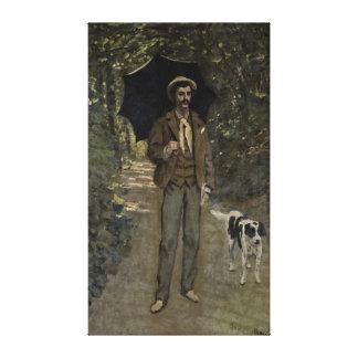 Toile Homme de Claude Monet | avec un parapluie,