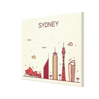 Toile Horizon de griffonnage de Sydney, Australie |
