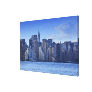 Toile Horizon de NYC de l'East River : Chrysler,