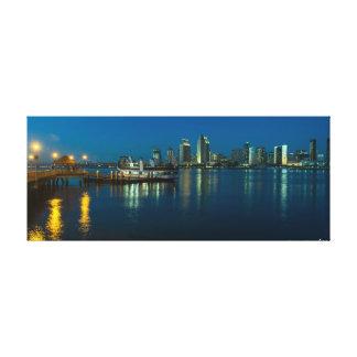 Toile Horizon de San Diego la nuit de Coronado