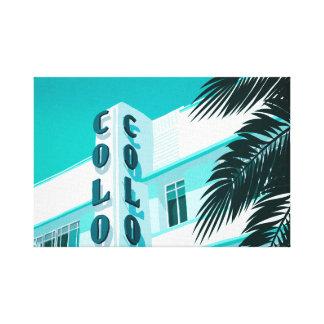 Toile Hôtel Miami de colonie