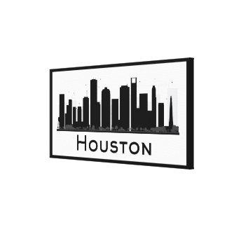 Toile Houston, le Texas horizon noir et blanc de | de