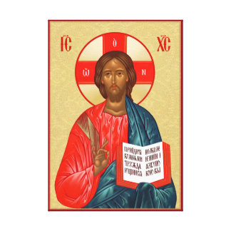 Toile Icône orthodoxe russe de Jésus-Christ