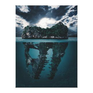 Toile Île artistique d'imaginaire abstrait