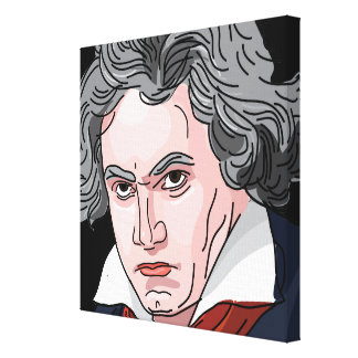 Toile Illustration de portrait de Beethoven