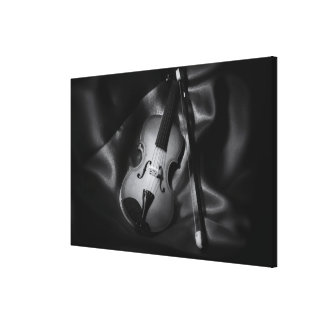 Toile image de b&W de l'Encore-vie d'un violon