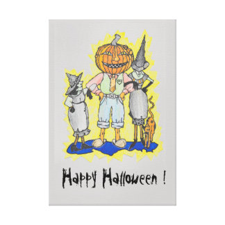Toile Image imprimée par Halloween heureuse