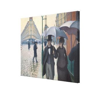 Toile Impressionisme français   Paris par jour pluvieux