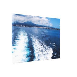 Toile imprimée : Baie des Flamands en Martinique