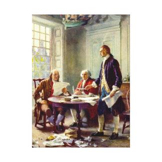 Toile Inscription de la déclaration d'indépendance