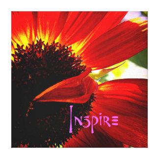 """Toile """"Inspirez"""" la photo rouge de plan rapproché de"""
