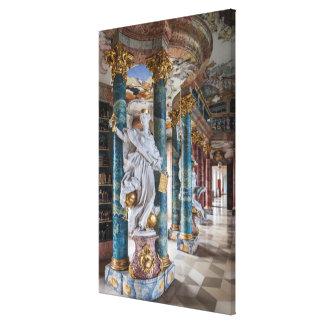 Toile Intérieur de bibliothèque de Rococo-Style