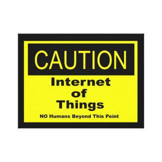Toile Internet de panneau d'avertissement de précaution