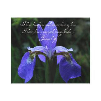 Toile Iris de bleu royal de 31:3 de Jérémie