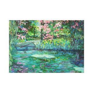 Toile jardin impressionniste