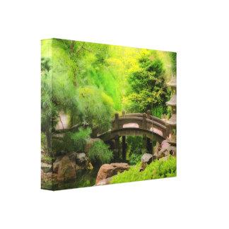 Toile Jardin japonais - l'eau sous le pont