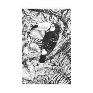 Toile Jardin tropical de toucan