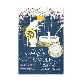 Toile Java font face à l'annonce vintage de salle de