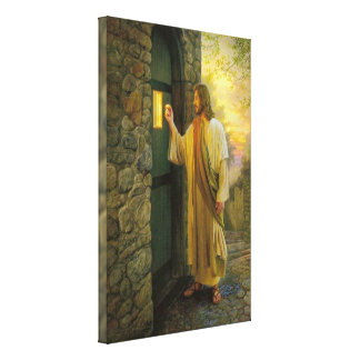 Toile Jésus à votre conception de tache floue de porte