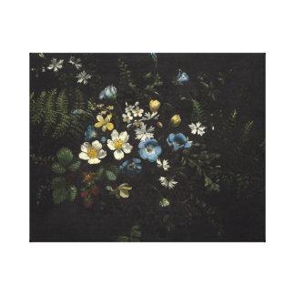 Toile Jet des fleurs et des fougères par Titian Ramsay