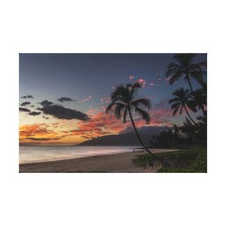 Toile Jeune coucher du soleil de plage de Charley