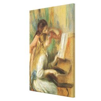 Toile Jeunes filles au piano par Pierre Renoir
