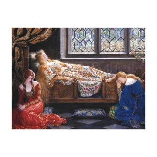 Toile John Collier la beauté de sommeil