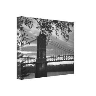 Toile John un pont suspendu 1866 de Roebling