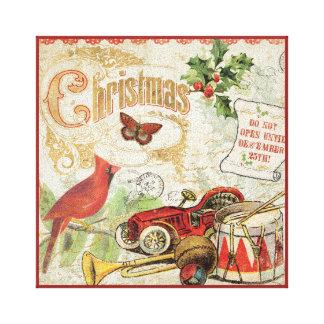 Toile Jouets vintages de Noël