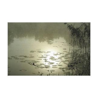 Toile Jour brumeux au-dessus du lac